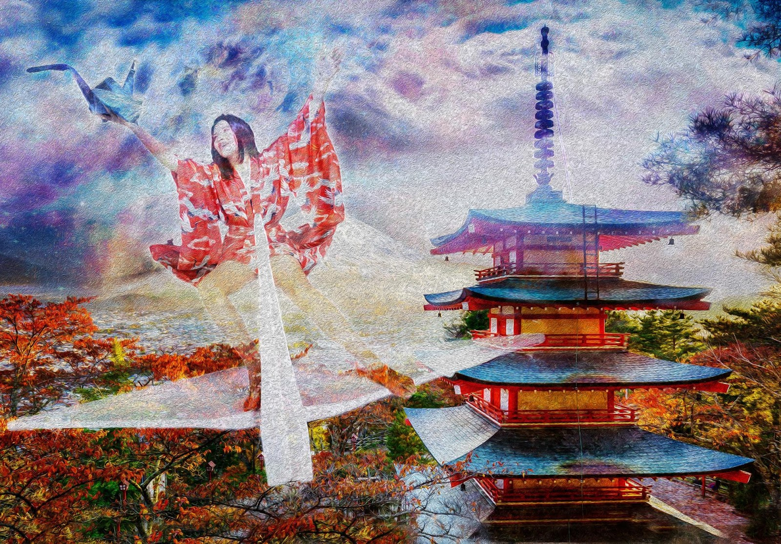 Tela Wings Of Peace Artista Henrique Vieira Filho