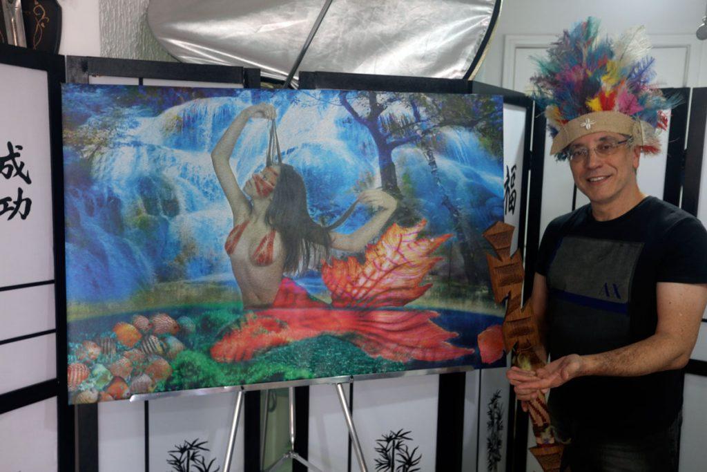 """Artwork: """"𝙔𝙖𝙧𝙖 - 𝙈𝙤𝙩𝙝𝙚𝙧 𝙊𝙛 𝙏𝙝𝙚 𝙒𝙖𝙩𝙚𝙧𝙨"""" - Artist: Henrique Vieira Filho (  Iara Mermaid - Yara, Uiara (do tupi y-îara, """"senhora das águas"""") - Mitologia Brasileira"""