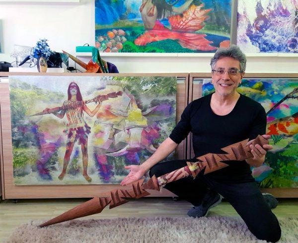 Tela: Caipora - Goddess Of The Forests Artista: Henrique Vieira Filho