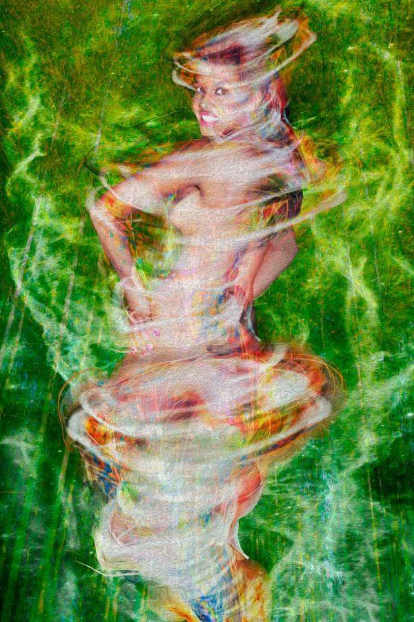 Tela: Birth Of The Saci Artista: Henrique Vieira Filho